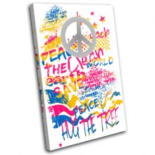 Peace Sign Abstract Illustration - 13-1893(00B)-SG32-PO
